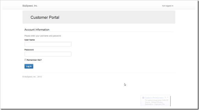 Customer Portal Logon