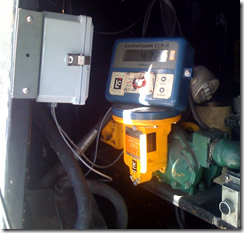 Antenna mounting for mobile fueling software with LCR-II meter
