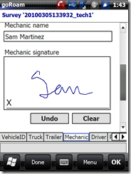 mechanic signature