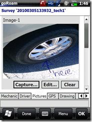 inspection - insert picture of vehicle damage