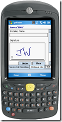 mobile work order - electronic signature capture