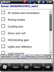 vehicle inspection - trailer checklist