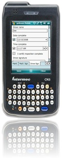 handheld data collection on Intermec CN3