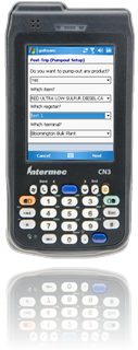 Post-trip tracking of retained product and pump-off handheld