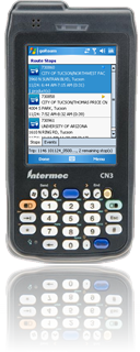 Route list with easy to view summary of each stop - handheld